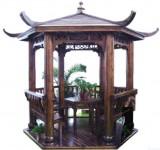 成品碳化木凉亭