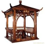 碳化木木制凉亭