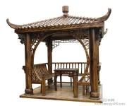 济宁成品碳化木凉亭
