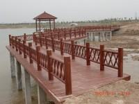 河岸防腐木护栏