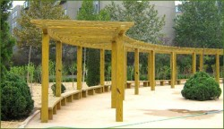 公园防腐木花架