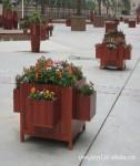 聊城防腐木花盆